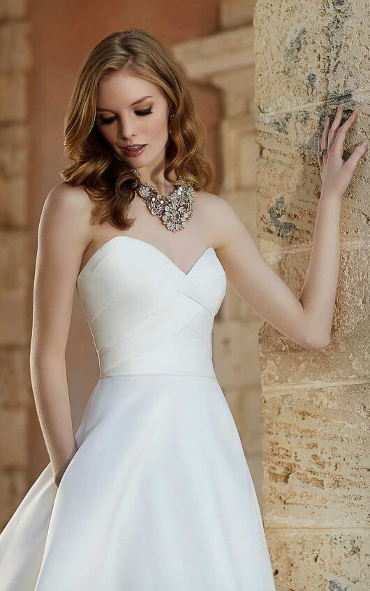 687 A-Line Couture Wedding Dress by Martina Liana
