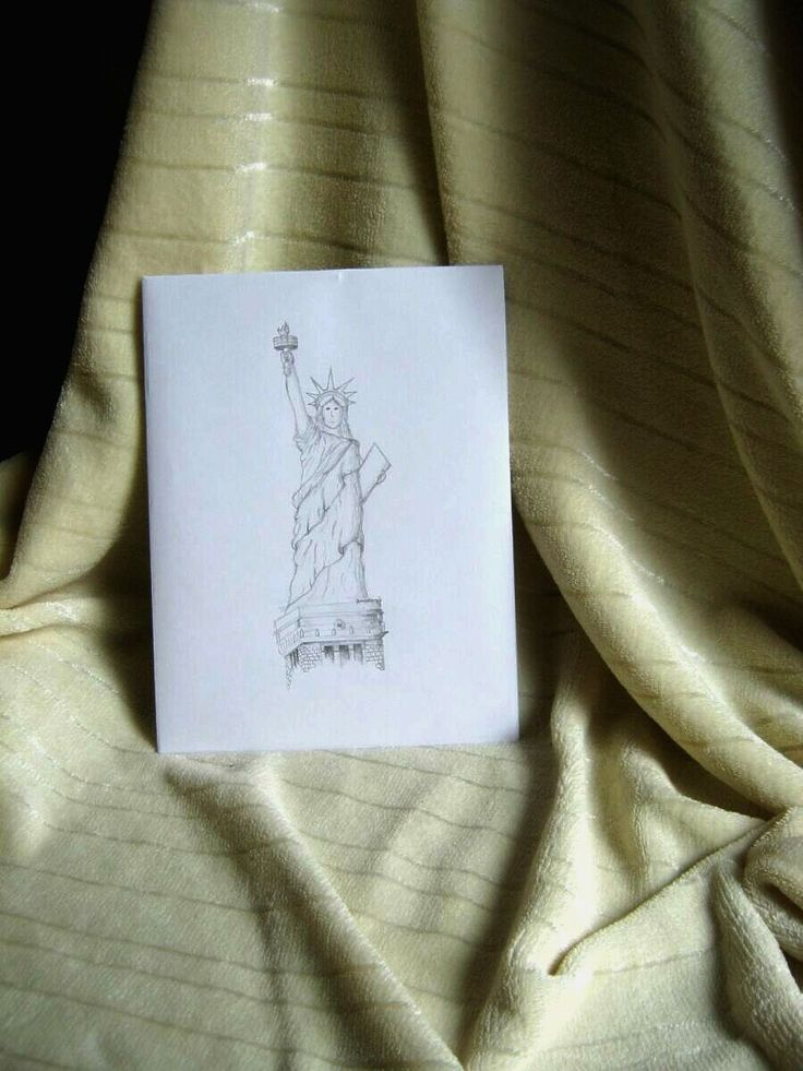 Pencil drawing: Statue of Liberty