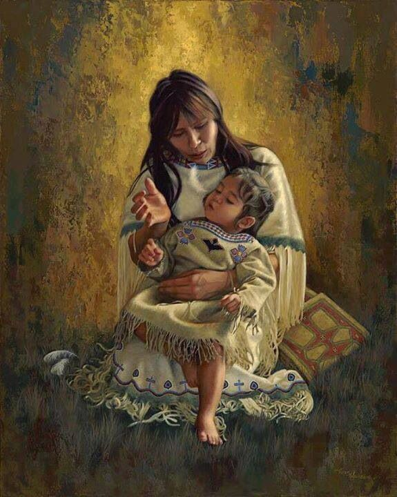Mother & child | Art of Native American | Pinterest ...