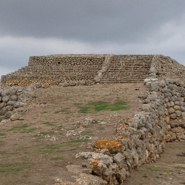 Monte D'Accoddi, Sardinia, Italy. A pre-Nuragic Ziqqurat in the heart of the Mediterranean sea