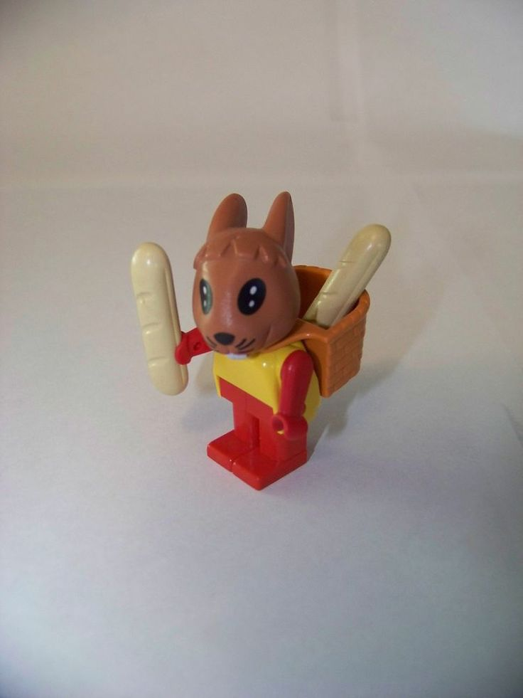 LEGO 1982 vintage Fabuland - Rufus Rabbit & bread basket #3708. We had this guy and his little bread sticks! :-)