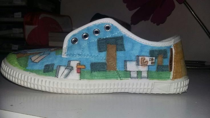 Chaussure minecraft pour un ami