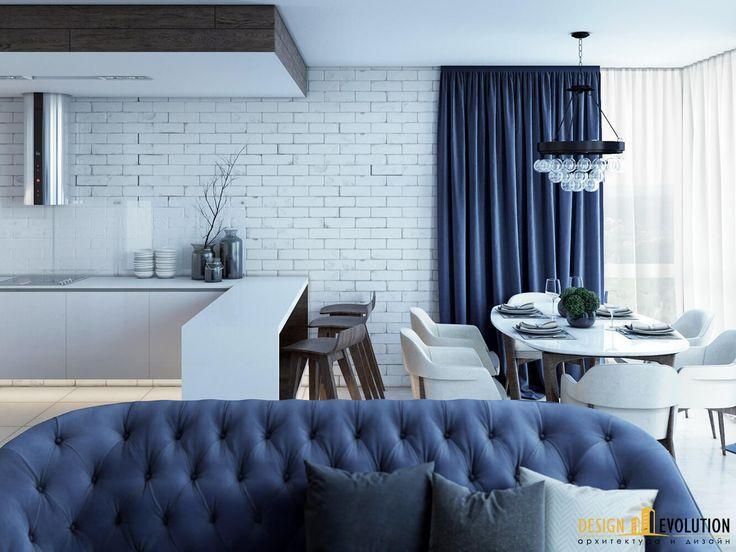 Эксклюзивный дизайн интерьера - дизайн-проект DEEP BLUE EMOTIONS
