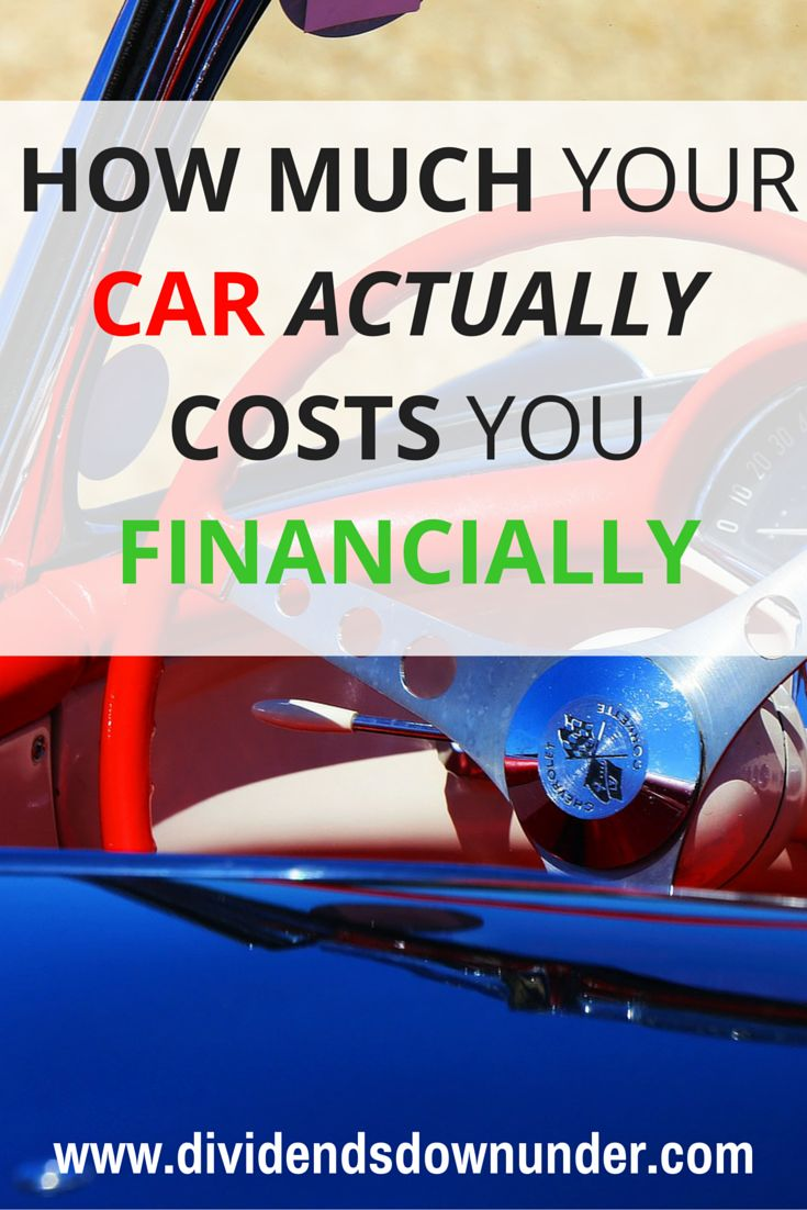 How much does your car cost? It's a very, broad and open ended question, but worth considering. Nearly every married household has two cars. So do you know how much your car actually costs you financially?.. Australian Personal Finance Blog  https://dividendsdownunder.com