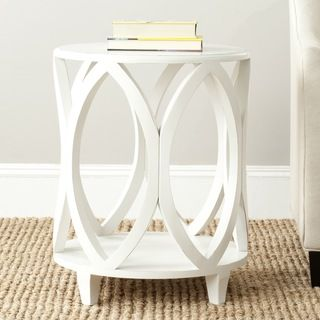 Safavieh Janika Accent Table   Off White   End Tables At Hayneedle