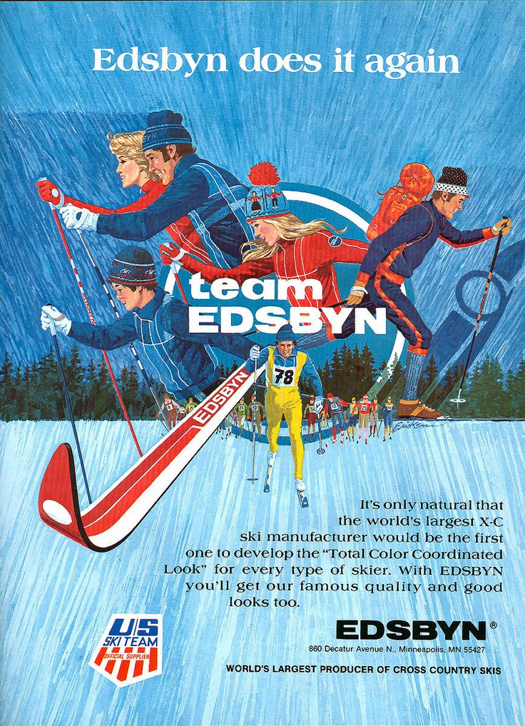 Then; proud ski makers. Now: proud sponsors of SkiTeam Sweden. #edsbynoffice #edsbynclassic #advertising #ski
