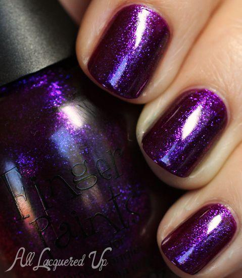 plum nail polish ideas