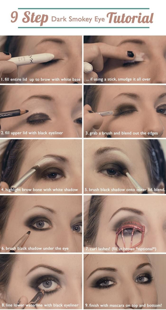 9 step dark smokey eye tutorial