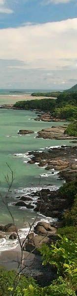 Montezuma Coastline looking south towards Cabuya