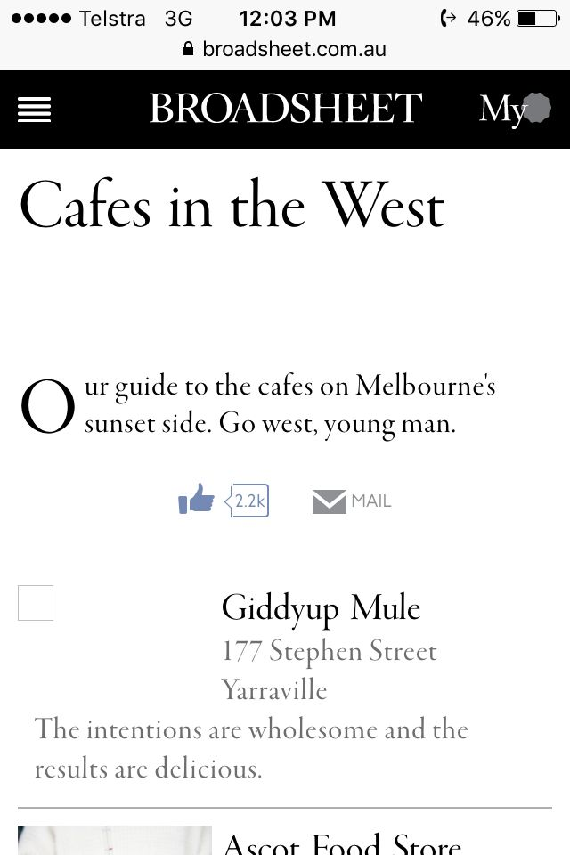 Cafes in the West https://www.broadsheet.com.au/melbourne/guides/cafes-west