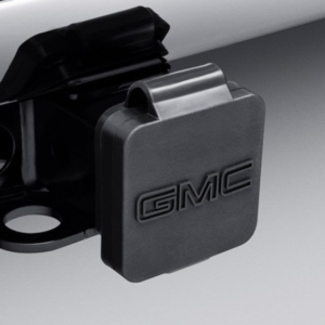 Hitch Receiver Closeout In Black With Gmc Logo Gmc Accessories