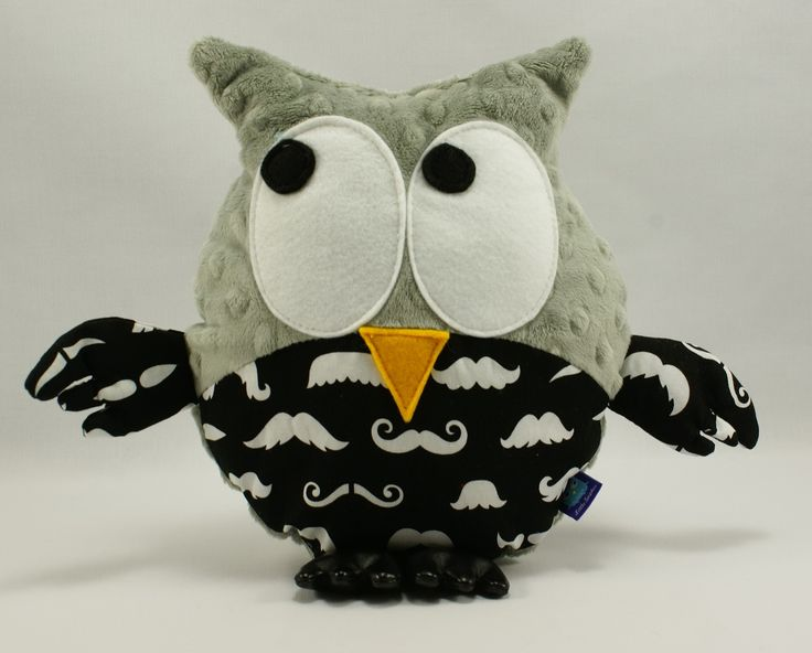 Little Sophie owl #littlesophie #mustache #owl #minky #grey