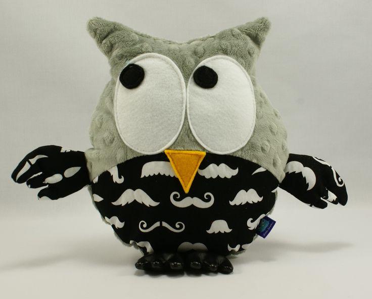Little Sophie owl #littlesophie #mustache #owl #minky #grey