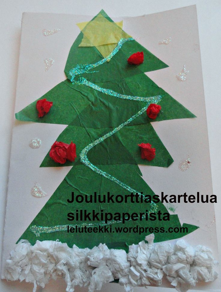 Joulukorttiaskartelua silkkipaperista http://blogi.leluteekki.fi