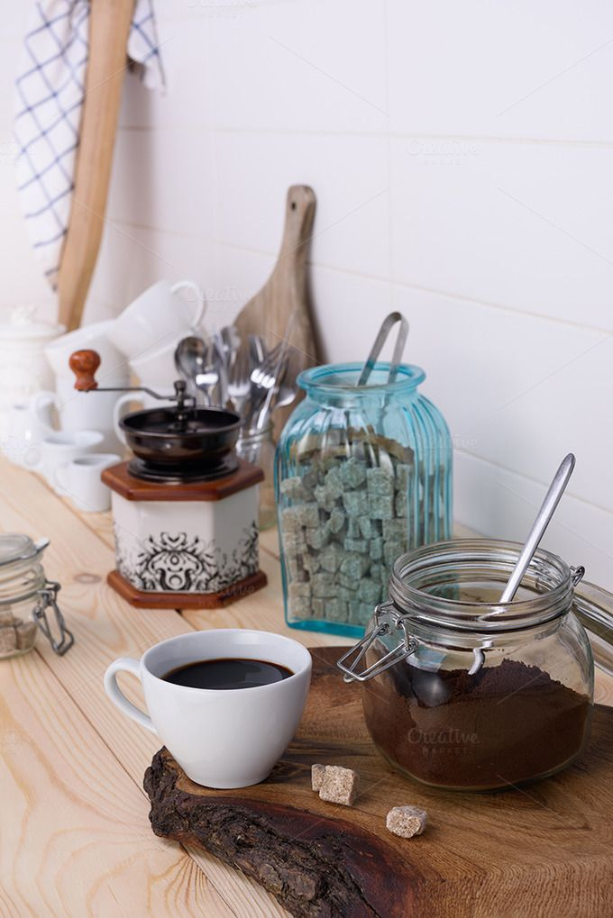Ground coffee by Iuliia Leonova on @creativemarket