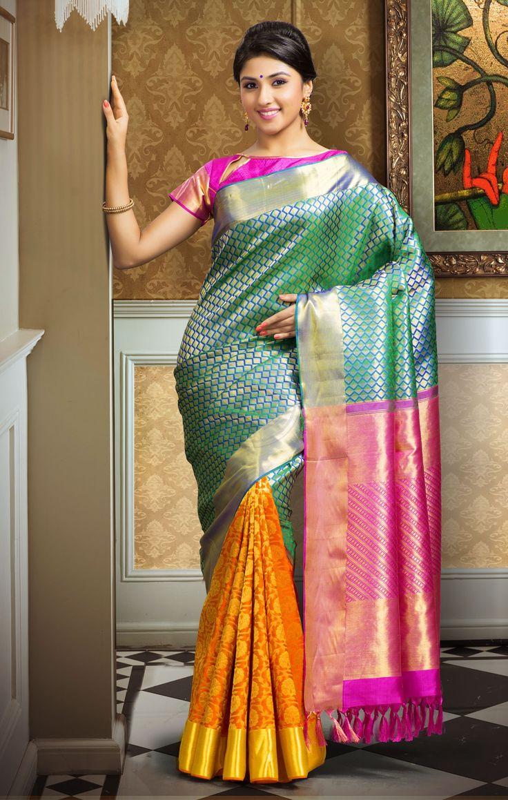 Exclusive Dhola Branded Wedding Silk Saree DBSS4035