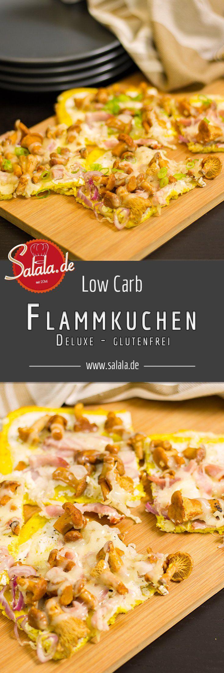 Low Carb Flammkuchen deluxe mit Pfifferlingen und Bergkäse - edel, lecker und definitiv jeden Aufwand wert!