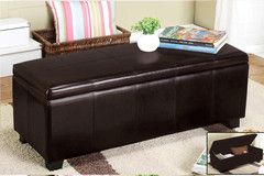 Espresso PU Storage Bench - Buy Online today at Morning Furniture.