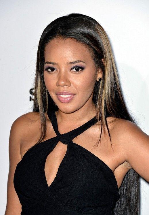 Angela Simmons Long Straight Sleek Hairstyle For Black
