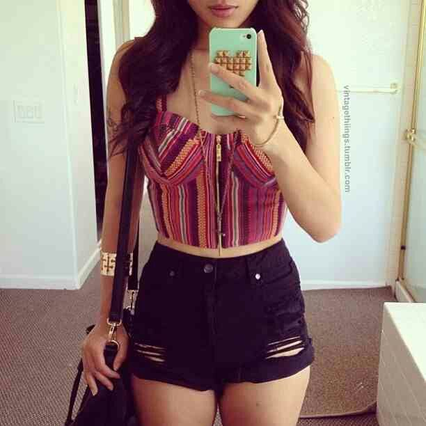 High waisted shorts | cute outfits | Pinterest