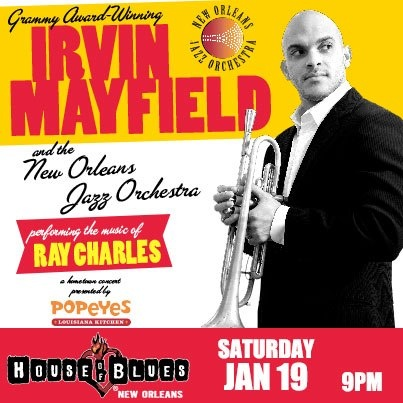 Irvin Mayfield & NOJO perform the songs of Ray Charles @ House of Blues 11/19