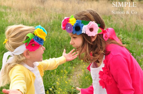 may day flower headbands tutorial (for making felt flowers), @ simplesimon