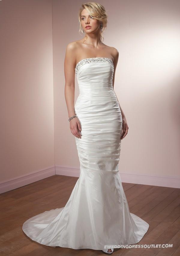 Taffeta strapless mermaid wedding dress wedding for Taffeta mermaid wedding dress