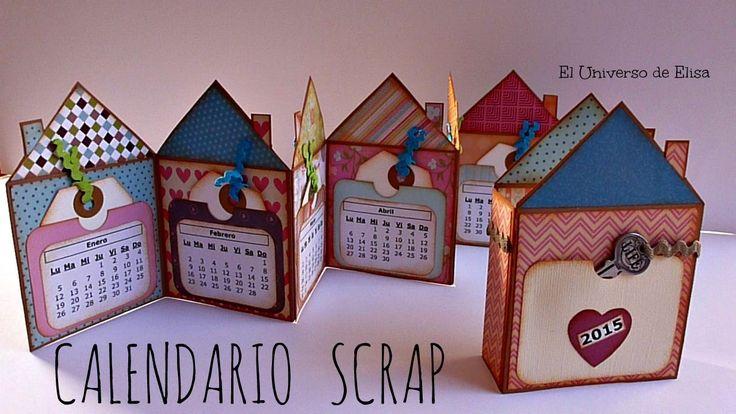 Mini Álbum Scrapbook Calendario 2015, Cómo hacer un Calendario Scrap, Sc...