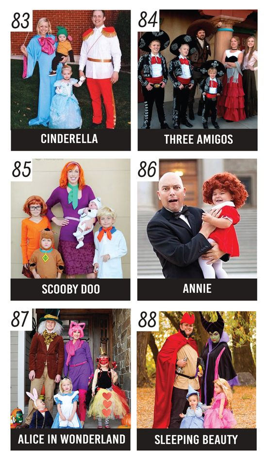 Family Halloween Costumes Inspired by Movies