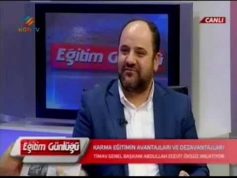 Timav Genel Başkanı Ecevit Öksüz Kontv'de Eğitim Günlüğü programında...