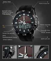 Military tactical watches Solar with Compass. Dual-LED