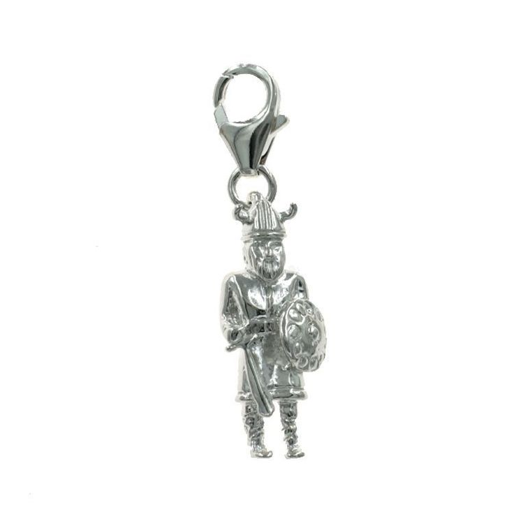 Viking Warrior Charm - chr-0865 Solid Gold | Sterling Silver