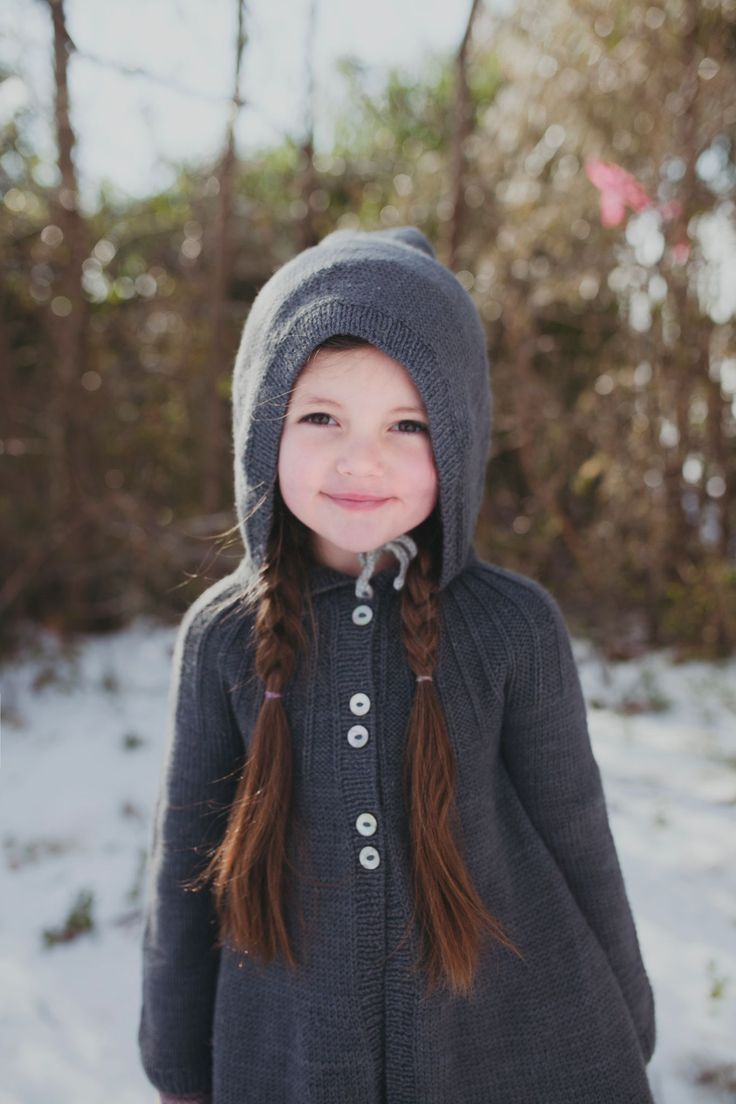 Lovely charcoal flared cardigan coat by Miou Kids for fall/winter 2015 kids fashion