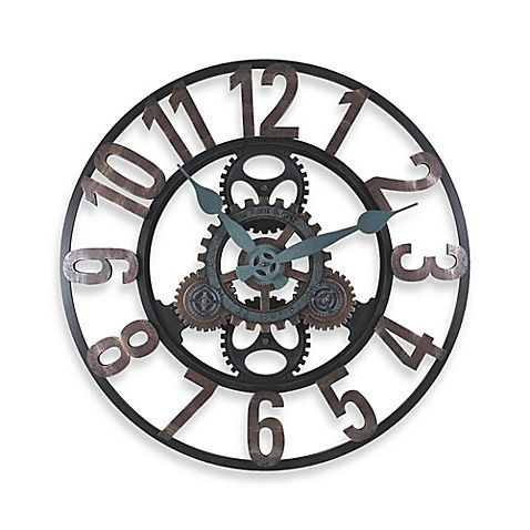 Perfect Add Some Industrial Beauty To A Room With This Steamworks Gear Wall Clock  By FirsTime. Moving Gears Combined With A Metal Finish Give It Outstanding  Style ...