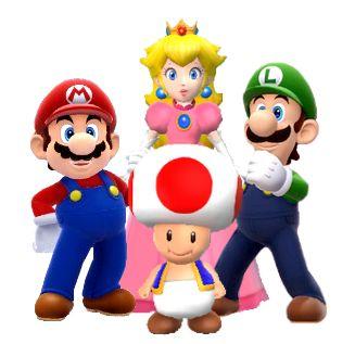 Mario luigi and peach threesome