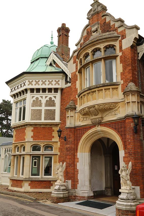 Bletchley Park, the site of WW II code-breaking discoveries. Milton Keynes, England.