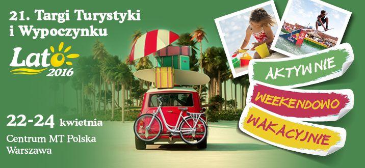 W dniach 22-24 kwietnia 2016 odbędą się 21. Targi Turystyki i Wypoczynku Lato 2016 w Warszawie. Ofertę zaprezentują tam regiony, miasta i gminy, biura podróży, organizatorzy aktywnego spędzania czasu, pensjonaty, hotele, ale też atrakcje i szlaki turystyczne, muzea czy przewoźnicy. Więcej na -> http://www.nocowanie.pl/21--targi-turystyki-i-wypoczynku-lato-2016-w-warszawie.html