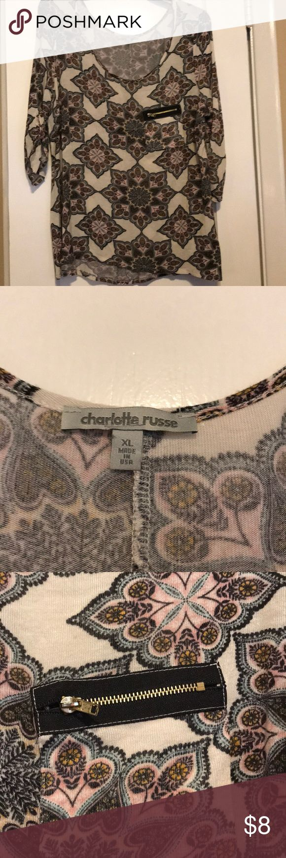 Casual blouse! Super comfy, Charlotte rouse! Charlotte Russe Tops Blouses