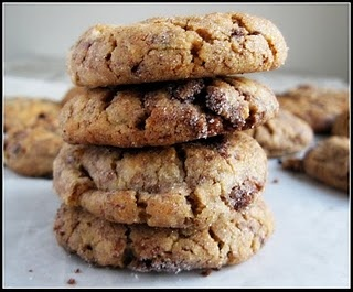 Peanut butter, brownie & snickers bar cookies.. Mmm.. All my favorites in one cookie.