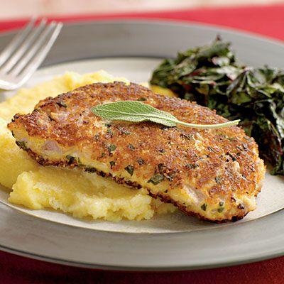 Parmesan and Sage-Crusted Pork Chops