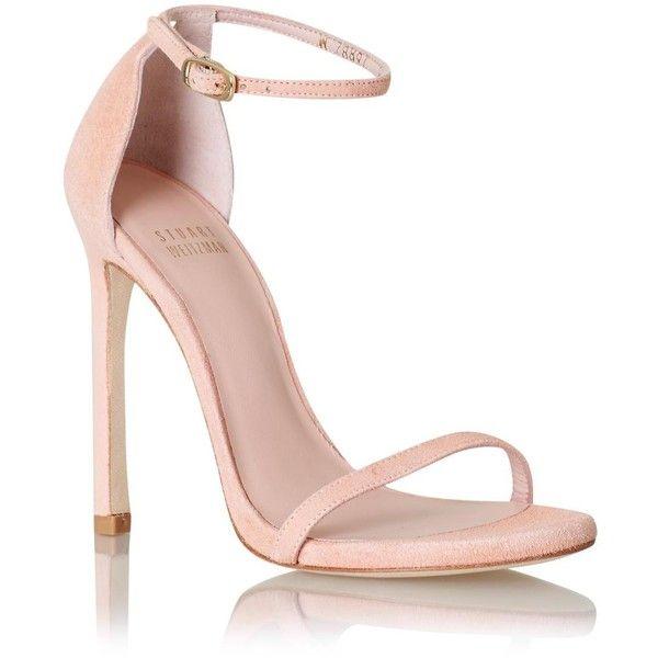 Stuart Weitzman Nudist ❤ liked on Polyvore featuring shoes, sandals, heels, makeup, leather sandals, leather shoes, rose shoes, stuart weitzman shoes and high heel sandals
