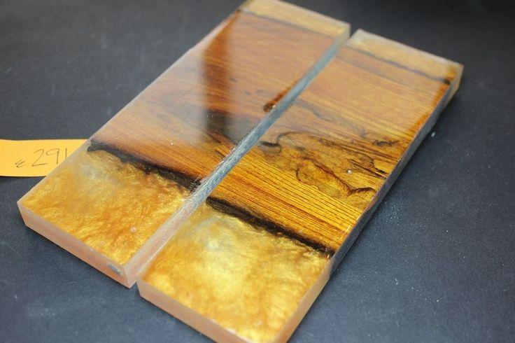 Yellow Cedar Hybrid Wormwood Blanks Wood SCALES KNIFE 1911 Grips gun handles NEW #206GRIPS