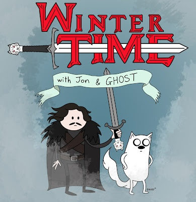 Adventure Time + Game of Thrones: X Games, Winter Time, Funny Pics, Winter Is Coming, Adventure Time, Games Of Thrones, Online Games, Fans Art, Jon Snow