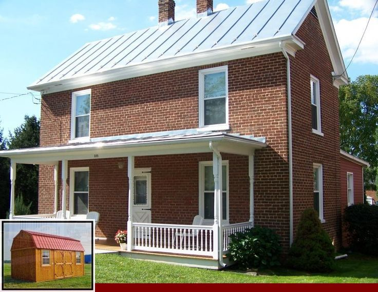 R Panel Metal Roofing Colors And Medlin S Metal Roofing Colors In 2020 Exterior Brick Porch Design Metal Roof