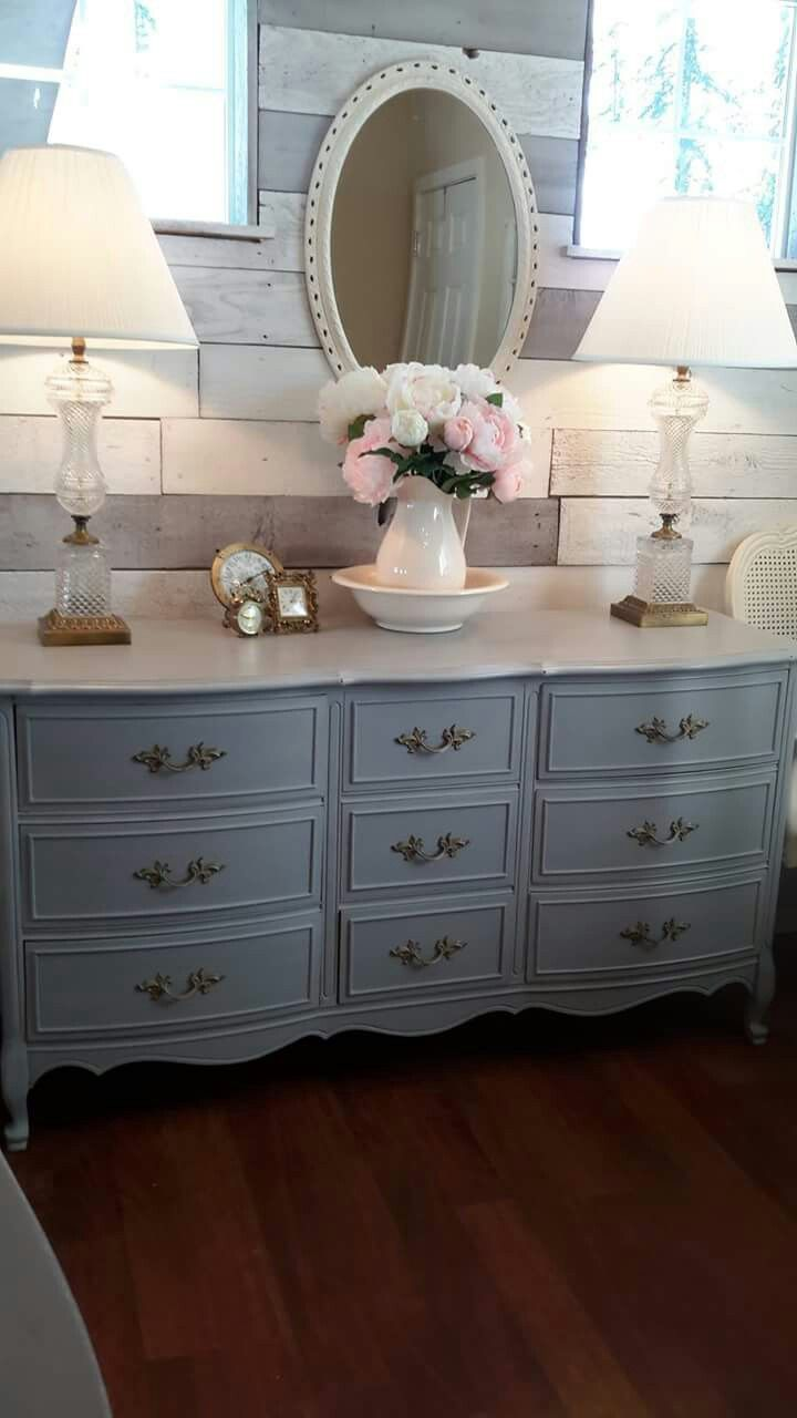 Paris Grey - Annie Sloan Chalk Paint - French Provincial Dresser-Dresser - ReCherished Root's