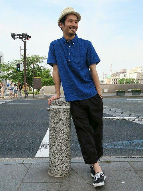 シャツ (GAP/Color:ブルー/¥6,200/ID:201425/着用サイズ:L) ハット (GAP/Color:ナチュラル/¥3,900/ID:178452) パンツ (ランデヴーオーグローブ) シューズ (VANS)  ■Gapストア リバーウォーク北九州店 http://mobile.gap.co.jp/stores/sp/store.php?shopId=37193919 ■オンラインストアはこちら http://www.gap.co.jp/browse/division.do?cid=5063 ■GapストアスタッフコーデをWEARで見る(Men) http://wear.jp/gapjapanmen/