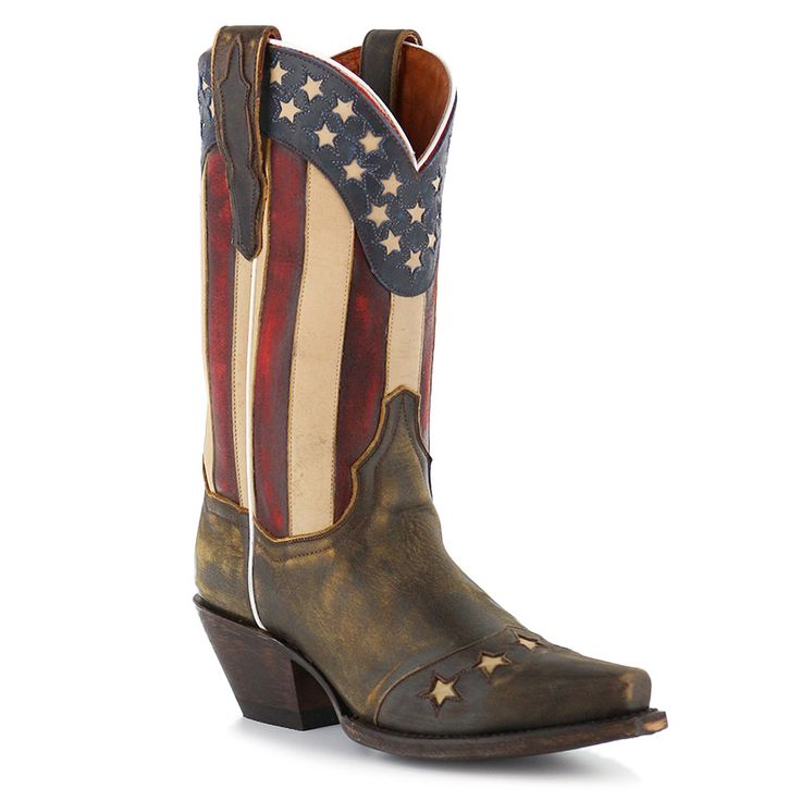 """Dan Post Women's 11"""" Liberty Stars & Stripes Boots. Love the vintage look of these"""