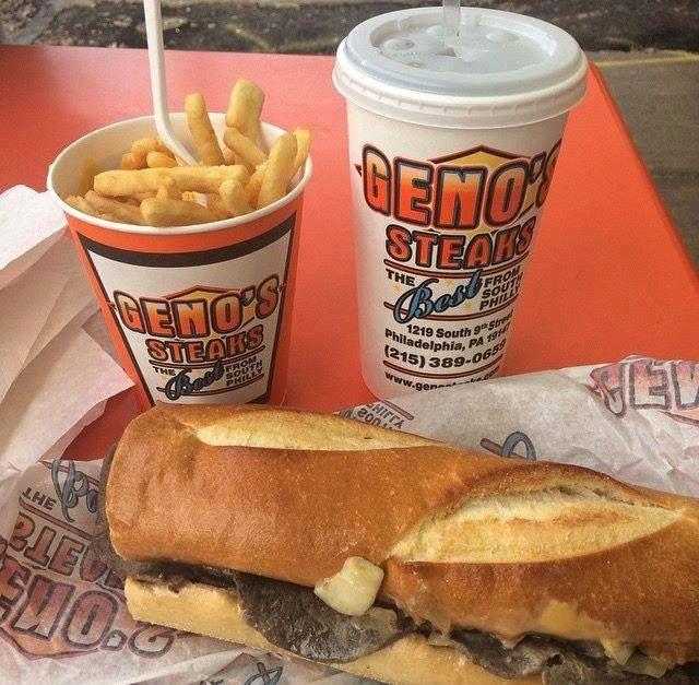 Located across the street from Pat's King of Steaks in South Philly is Geno's Steaks, founded by Joey Veno in 1966. Veno decided to locate his shop across from Pat's because he wanted to be where people were already eating #cheesesteaks!