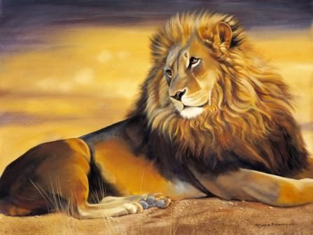 paintings of lions | Home Limited Editions On Safari Born Free