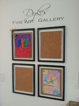 Fine Art Gallery for childrenArt Gallery, Diy Fine, Diy Art, Art Display, Fine Art, Words Art, Art Enthusiast, Kids Artworks, Artworks Display